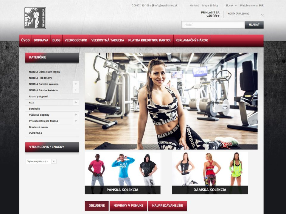 Referencia - newfitshop.sk - vega solutions s.r.o.