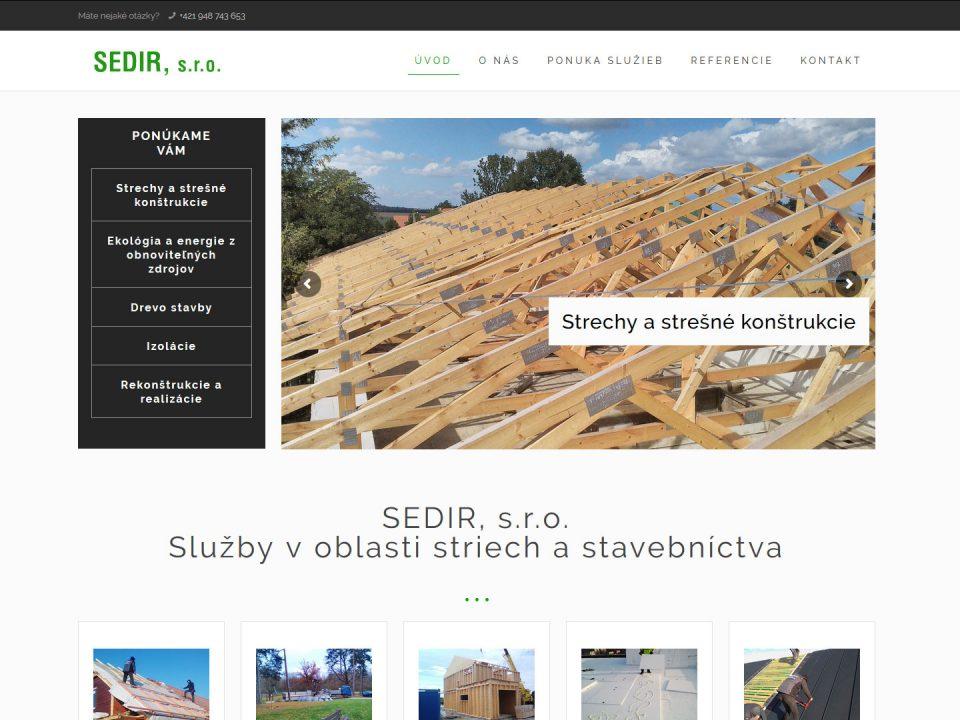 Referencia - sedir.sk - vega solutions s.r.o.